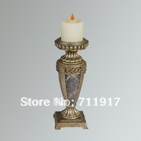 handicraft home or showroom decoration poly resin candle lamp