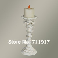 handicraft home or showroom decoration poly resin candle decoration