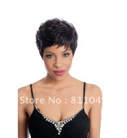 Free Shipping New Stylish Black   Short  Curly  Synthetic  Ladys'  Fashion Sexy Hair Wig/Wigs