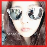 Free Shipping 10pc/lot lady's sunglasses 80s vinage silver lenses reflective women sunglasses designer promotion glasses RT418