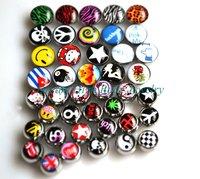 Tongue Ball Bar Body Piercing Rasta Barbell Threaded Accessories Set Bonus interchangeable Bonus 316L stainless steel 14G Beads