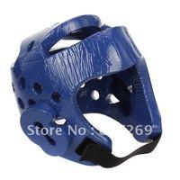 MMA Karate Macho Dyna Sparring Head Gear Boxing Headguard Face Protector Helmet - Blue