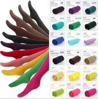 freeshipping 2014 wholesale price summer velvet ultra-thin candy color ladies pantyhose/panty hose socks 17colors dropshipping