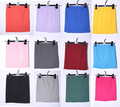 Wholesale Free shipping Spandex Cotton Skirt Candy Colors knit cotton basic under knitted skirts mini dress 201690