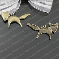 (25477)Alloy Findings,charm pendants,Antiqued style bronze tone Fox 20PCS