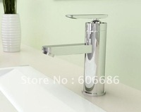 Freeshipping chrome surface single hole tap  bathroom kitchen basin mixer tap sink transparent high quality