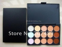 15 full color makeup cream palettes professional comestics set  eyes Facial Camouflage concealers grooming wholesale