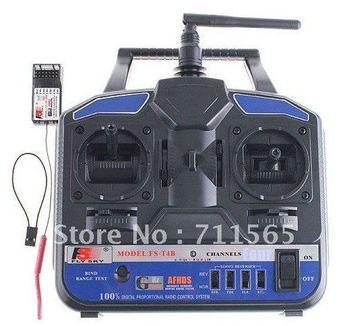 Flysky FS 2.4G 4CH FS-T4B Radio Model RC Transmitter & Receiver Heli Helicopter Airplane
