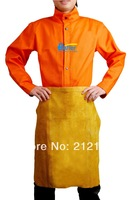 Free Shipping !! Golden Leather Waist Apron !! Split Cowhide Leather Welding Jackets !! Cow Split Leather Welding Aprons