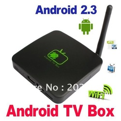 New Google Android 2.3 HD 1080P Internet TV Box WIFI Media Player HDTV MP3/WMA(China (Mainland))