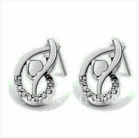 Wholesale 925 silver earrings woman temperament, ear hammer fashion dance 18 a simulation drill E8537