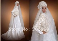 new Free Shipping Fashionable New Arrive Hot Sell Muslim Wedding Dresses