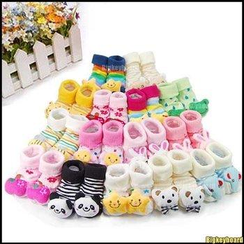 Fashion Cute Unisex Cartoon Newborn Baby non slip Socks Slipper Shoes Boots 26 style