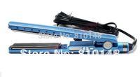 1 Piece Free shipping blue titanium 1 1/4 hair straightener bi-voltage without retail box