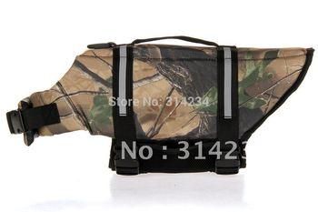 Dogs camouflage  life preserver jacket  S  dog boat FREE SHIPPING PROMOTION 2014