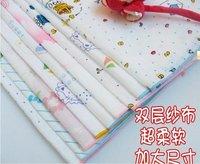 free shipping baby  two-side cotton gauze soft feeding towel / slobber towel / handkerchief / face towel/35*35cm