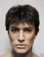 Beautiful short dark brown (4 #) for men hair wig
