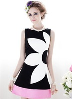 Free Shipping Manufacturers supply Women's fashion slim sexy sleeveless formal dress one-piece dress #L665