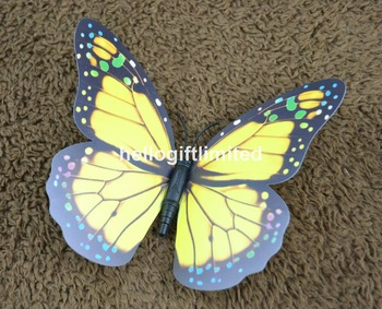 50pcs/lot 15cm(Width) Artificial Butterfly Fridge Magnet Note Holder Home Decor ation Child Loverly Toy Business Promotion Gift