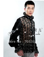 012 men taking pictures personal photo studio performance stage show host MC long-sleeved shirt