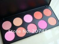 10 full color makeup palette professional comestics set  powder blush mixed cheek FACE beauty dropshipping