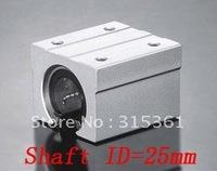 Free Shipping 10PCS/Lot SBR25UU 25mm Open Linear Bearing Slide Linear Motion Block XYZ CNC SBR Series