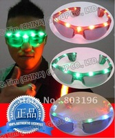 Free Shipping 10PCS/Lot  Popular  LED GlassesThree Colors for Choice Green/Blue/Colorful