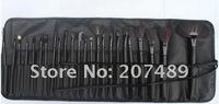 new portable 24 in1 brush sets High Grade pure natural Hair Makeup Kit cosmetic tool professional bag