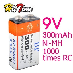 BP 9V 9 Volt Ni-MH Rechargeable Battery 300mAh [2989|01|01](China (Mainland))