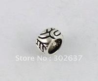 80 Tibetan silver barrel spacer beads w/big hole A8998