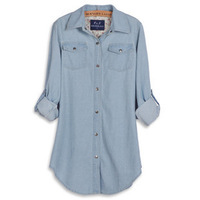 2012 spring casual long-sleeve patchwork denim shirt medium-long female light color shirt