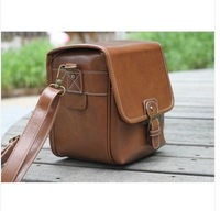 New Brown Universal DSLR leather camer bag for Canon 550D 600D Nikon D90 D7000