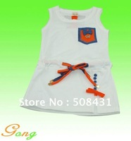 Lovely summer 2sets/lot free shipping ,children clothing set,girl's dress,
