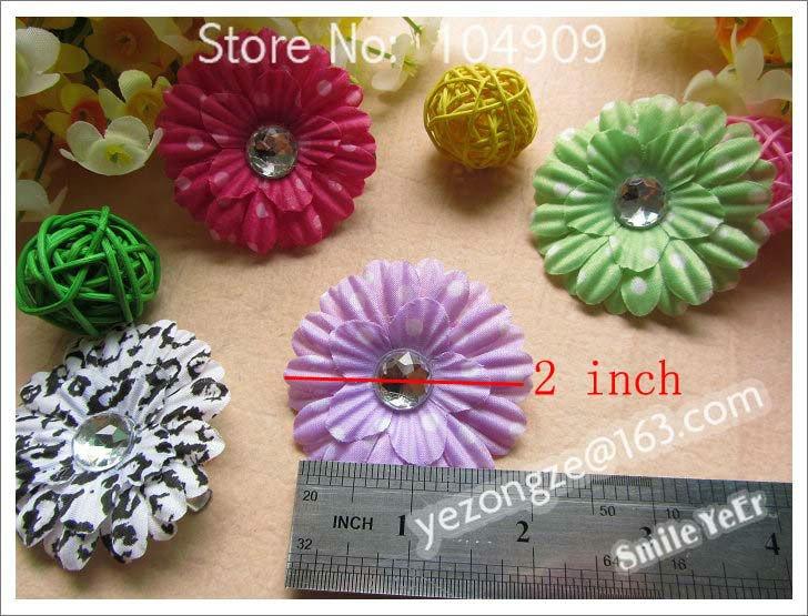 240pcs Point Gerbera Flower Hair Bows Silkl Flower+Alligator clip Baby Hair pin Hair Styling(China (Mainland))