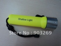 Mail Free + 10PCs 818 Flashlight Diving  1 Mode 120 LM Scuba Diving Torch By 4*AA Battery With Yellow Black Red Blue