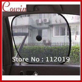 10pair/Lot Foldable Car Side Window Screen Mesh Sunshade Sun Shade Free Shipping