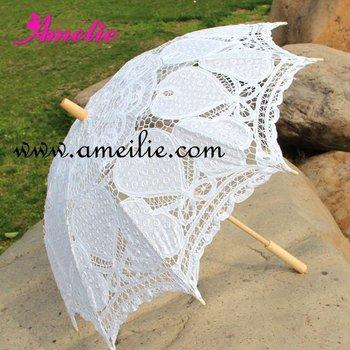 New Arrival Heidi Battenburg Lace Parasol Wedding Bridal Umbrella 10pcs/lot