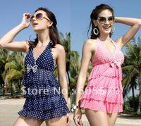 NEW style beach lovely Swim dress bottom two piece swimsuit swimwear13002 L-2XL