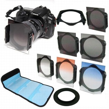 77mm ring Adapter+ ND2/ND4/ND8+ Graduated Orange Blue grey square Filter for Cokin p series free shipping +tracking number
