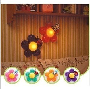 Register free shipping 5pcs/lot  led night light ,lamp,table wall light,Creative- flowers