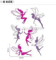 Hot Sell! Free Shipping! 3rd Generation JM8202 50*70cm Fairy DIY Wall sticker Window sticker PVC Decor Stickers,Elves fairy