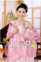4pcs wedding wraps sequins embroidery women dress shawl lace shawl bride shawl  fashion desig free ship n