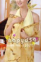 19pcs fashion design wedding wraps sequins embroidery women dress shawl lace bride shawl free ship