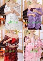 79pcs free ship wedding wraps sequins embroidery women dress shawl fashion design lace bride shawl