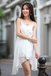 White Cocktail Dress Free Shipping Sexy Designed,High Quality,Maxi Dress,3 Days Leading, Cheap,Wholesale Price/1 Pcs Lot-N-A02(China (Mainland))