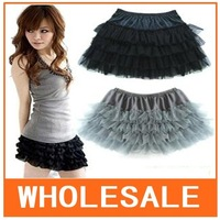 10pcs/Lot Wholesale Japan Lace Yarn Skirt, Fourfold Cake Skirt color black Free Shipping