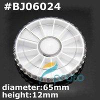 Freeship --White Plastic Empty Wheel Box Case For Nail Art Gems Rhinestones Storage Case Wholesale SKU:F0121XX