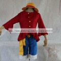 One Piece Monkey D Luffy 2 Years Later Cosplay Costume With Luffy Hat Luffy Shoes
