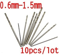 10PCS Mini Twist Drill Bits for 0.6mm 0.7mm 0.8mm 0.9mm 1.0mm .... 1.4mm 1.5mm