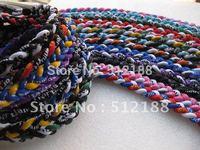 200PCS Necklaces + 200PCS Retail Boxes - Germanium Titanium Braided Twisted Tornado Sports Energy 3 Ropes Power Necklace